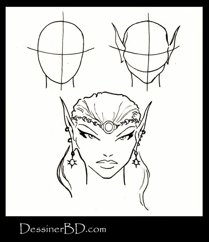comment dessiner un visage de femme elfe