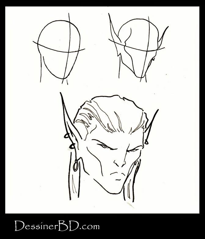 comment dessiner un visage elfe
