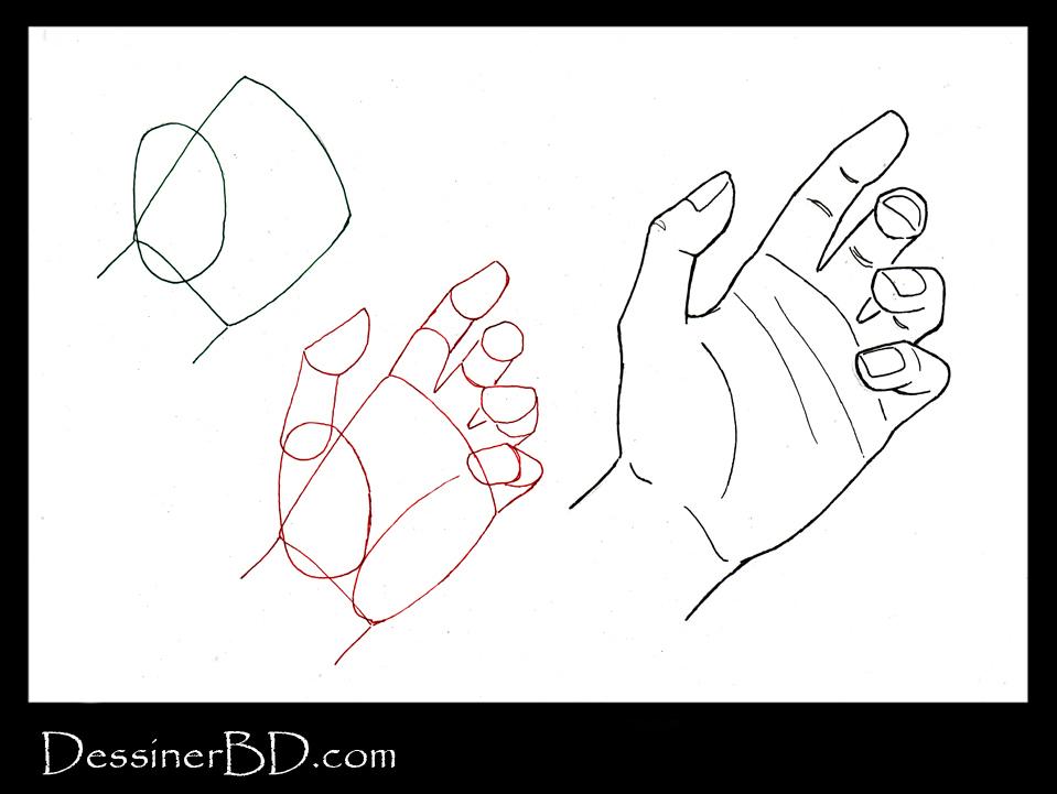 Cours de dessin sur une main