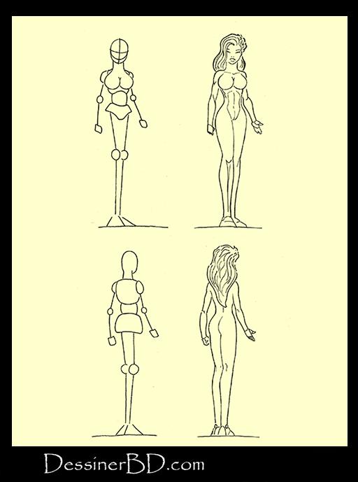 Tutoriel de dessin muscles et anatomie femme