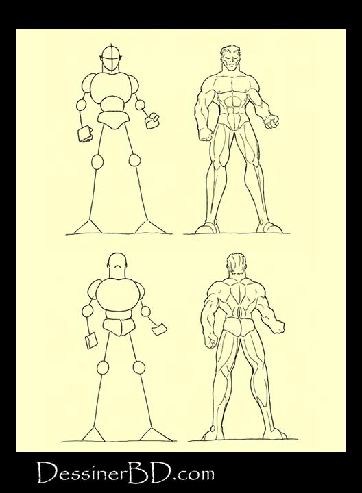 Tutoriel de dessin muscles et anatomie homme