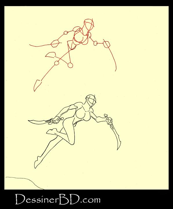 comment dessiner mouvement