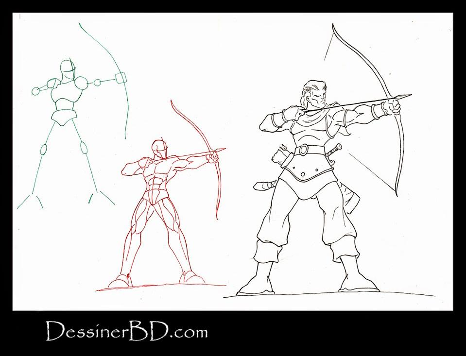 apprendre à dessiner un archer rôdeur