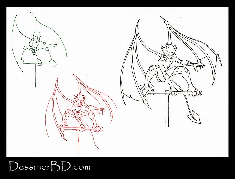 apprendre à dessiner un diablotin