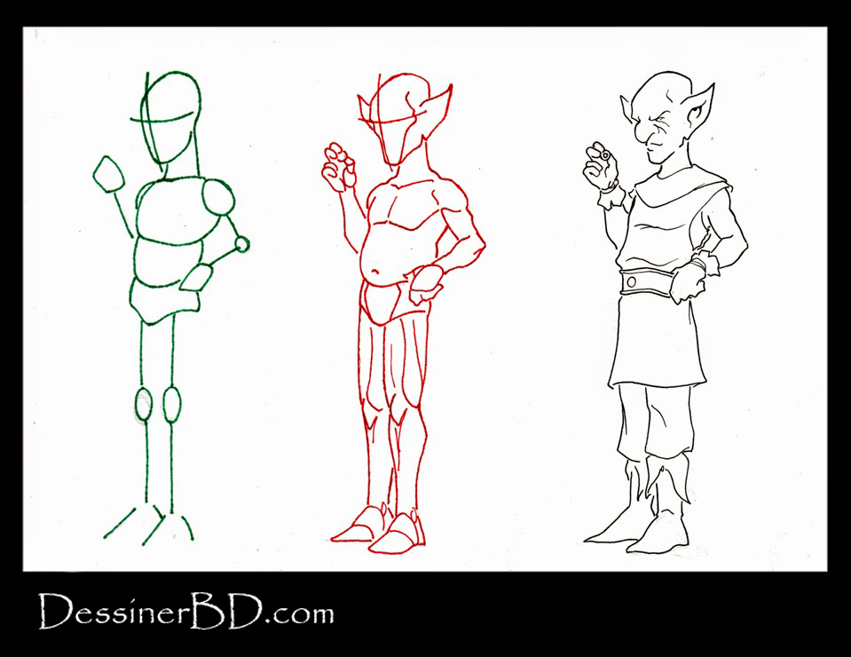 apprendre à dessiner un gnome