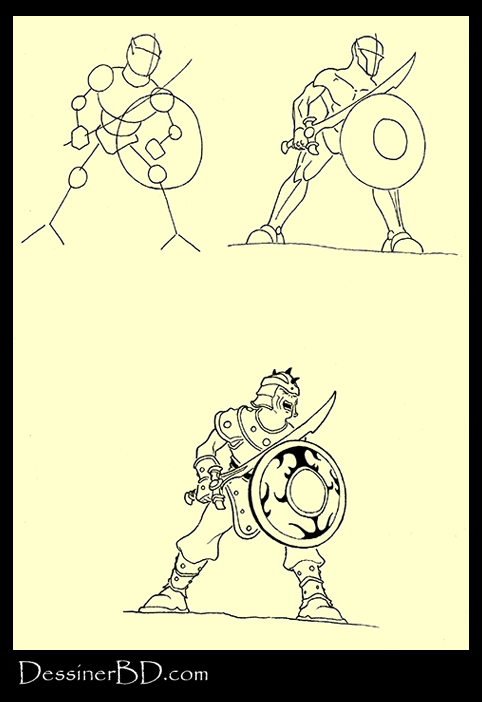apprendre à dessiner un guerrier gobelin