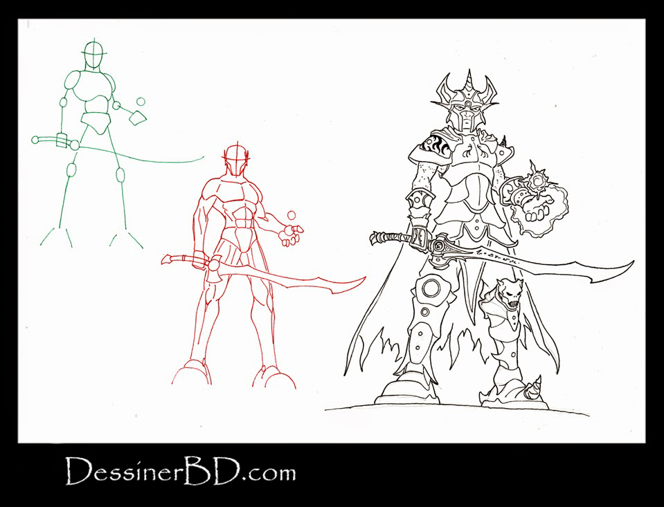 apprendre à dessiner un guerrier mage elfe noir