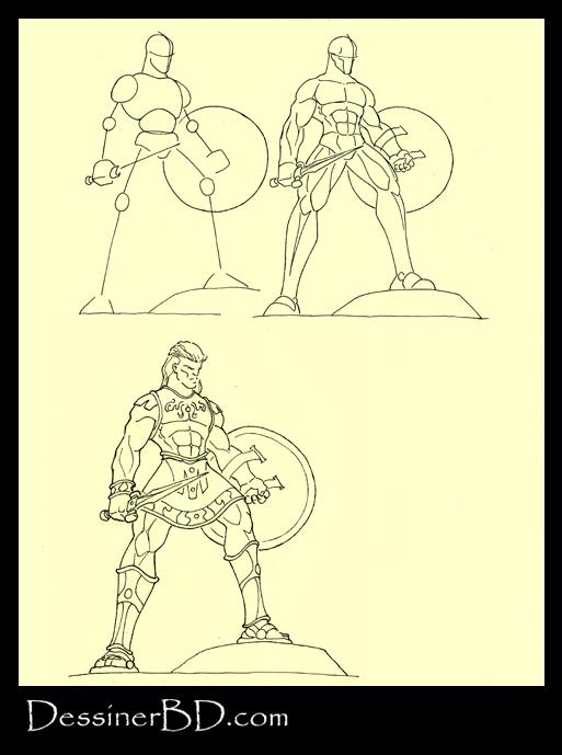 apprendre à dessiner un guerrier myrmidon