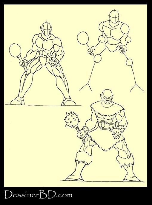 apprendre à dessiner un ogre avec massue