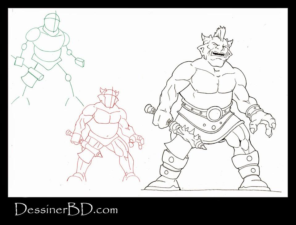 apprendre à dessiner un ogre cornu