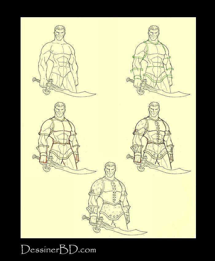 Apprendre à dessiner un plastron armuré