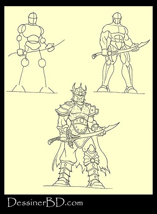 apprendre à dessiner seigneur de guerre orque
