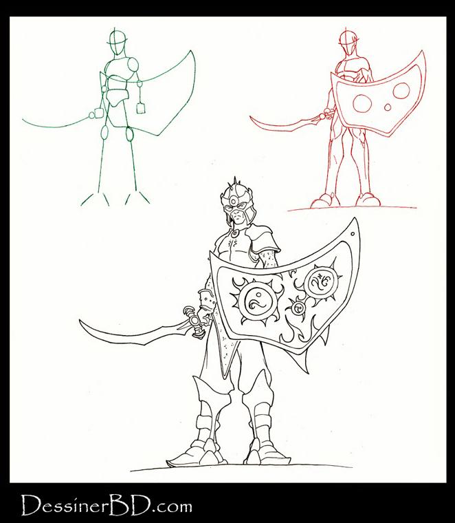 apprendre à dessiner un soldat elfe noir