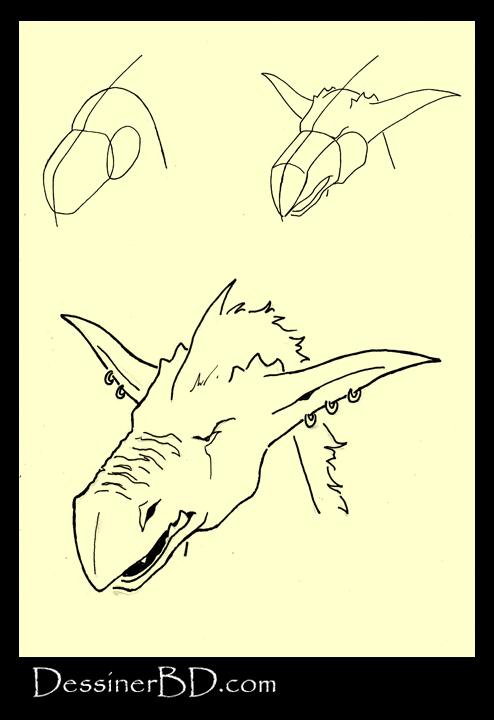 apprendre à dessiner un visage kobold