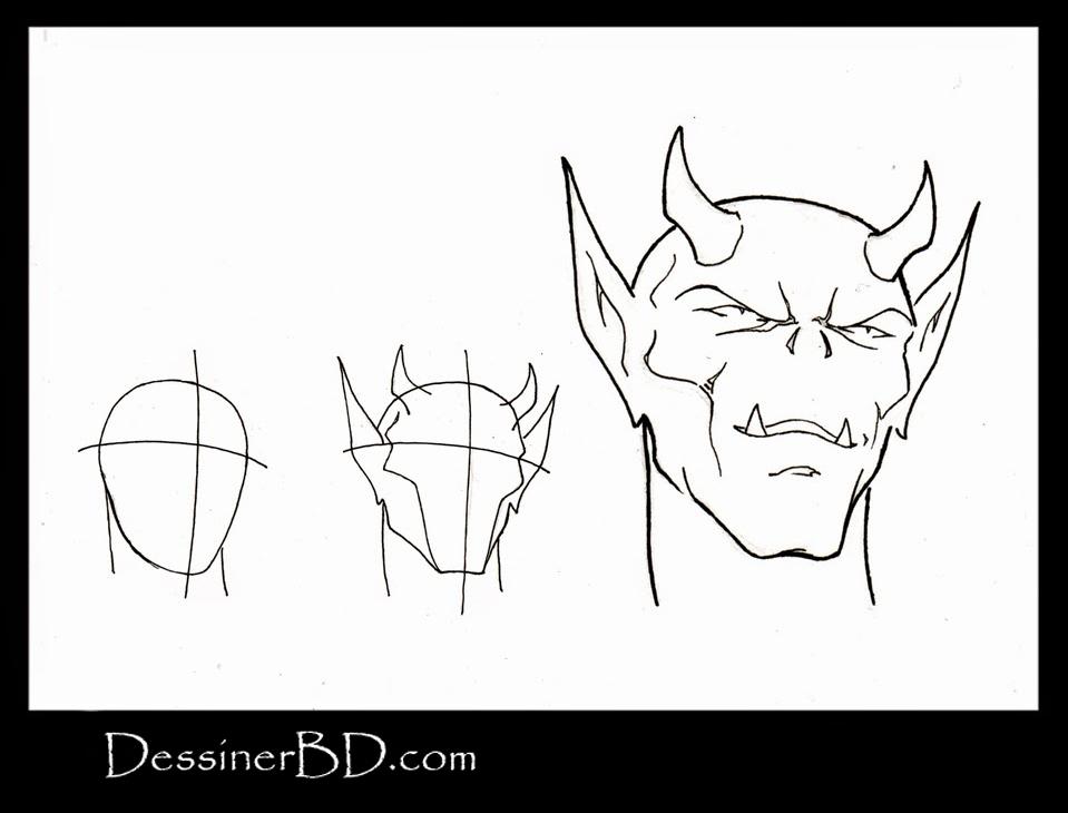 apprendre à dessiner le visage des diablotins