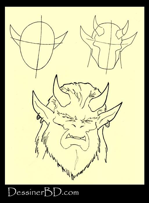 apprendre à dessiner un viasge troll
