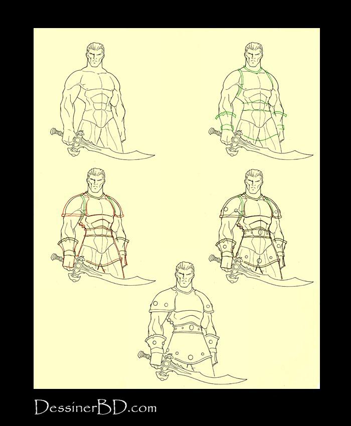 Apprendre à dessiner une armure de cuir cloutée