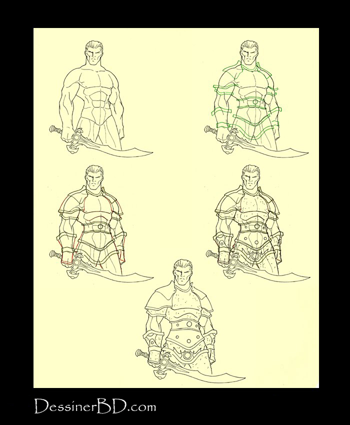 Apprendre à dessiner une armure de mailles lourde