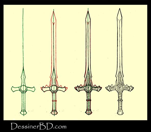 Apprendre à dessiner une épée