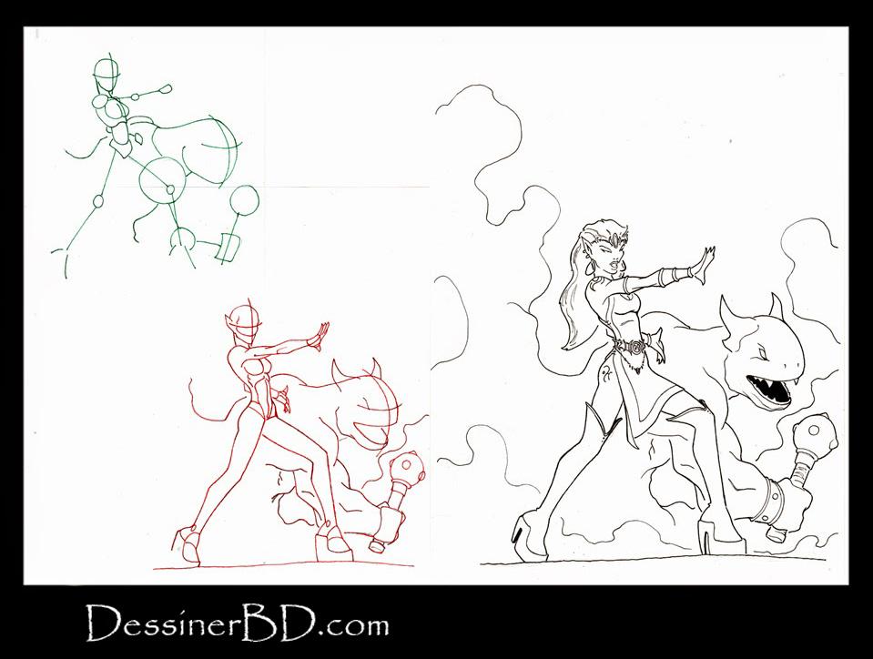 apprendre à dessiner une invocatrice elfe noire