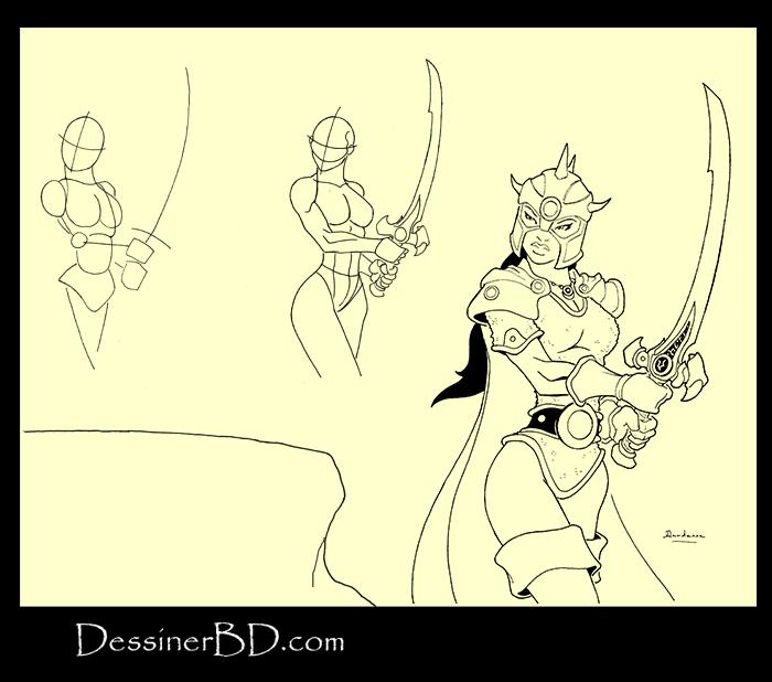 apprendre à dessiner une guerrière