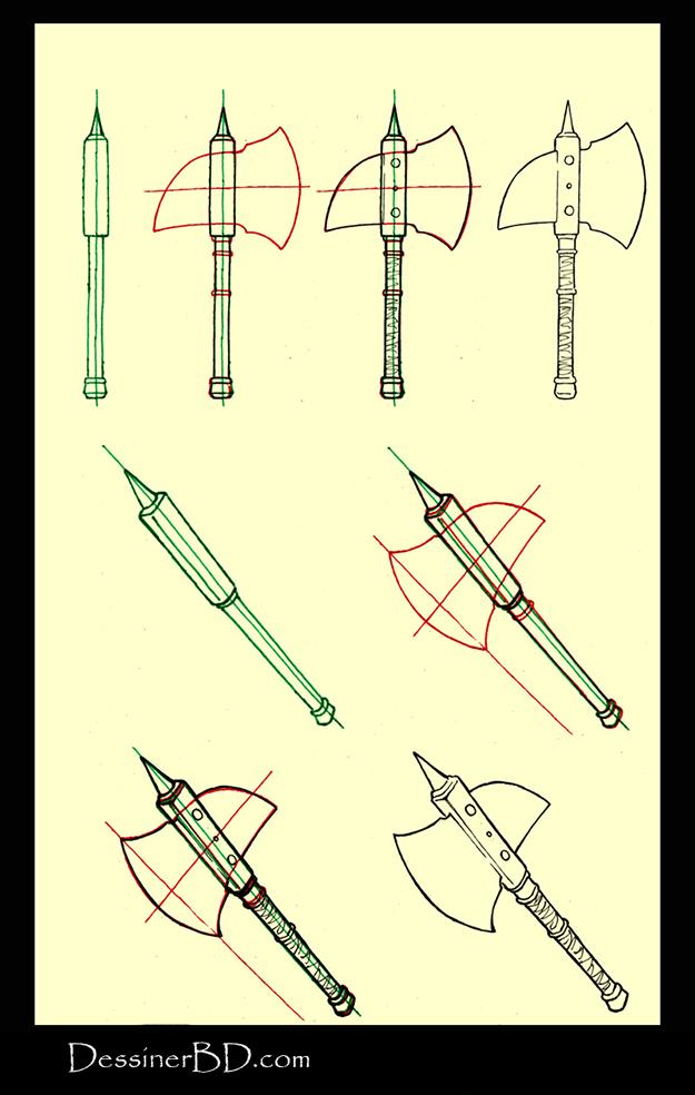 Apprendre à dessiner une hache