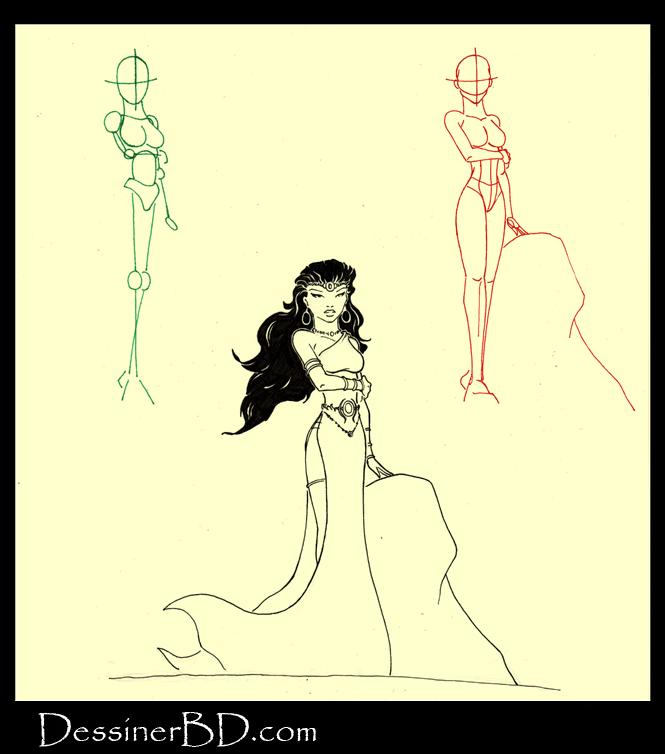 apprendre à dessiner un nymphe de la mythologie