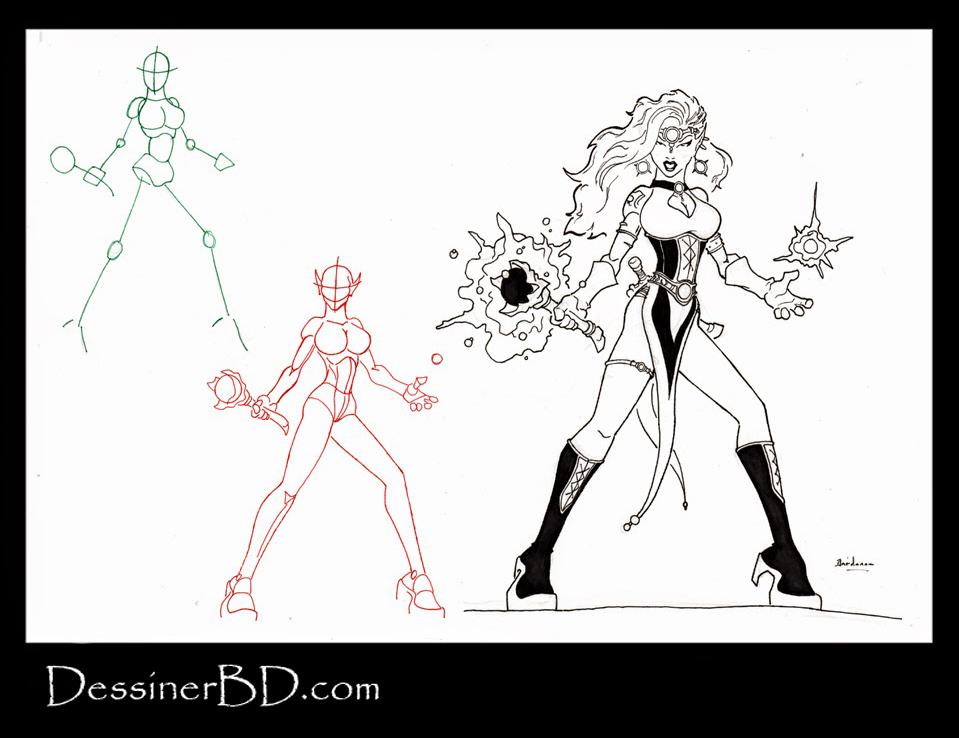 apprendre à dessiner une sorcière elfe noir