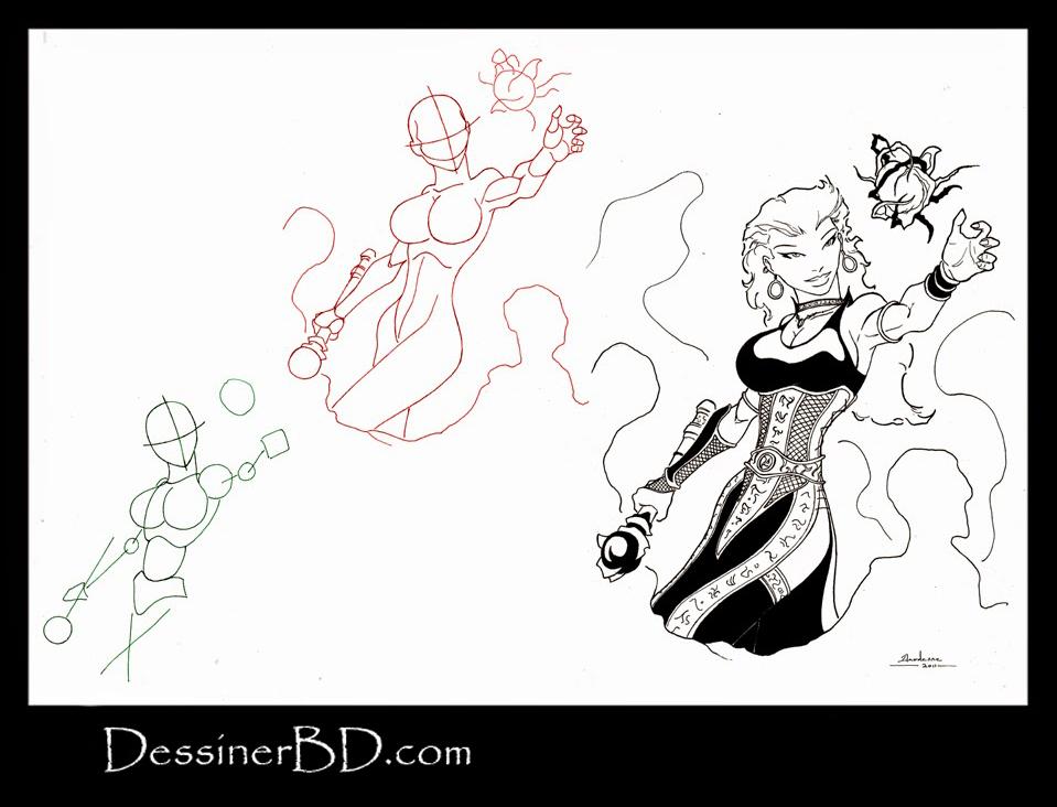 apprendre à dessiner une sorcière nécromante