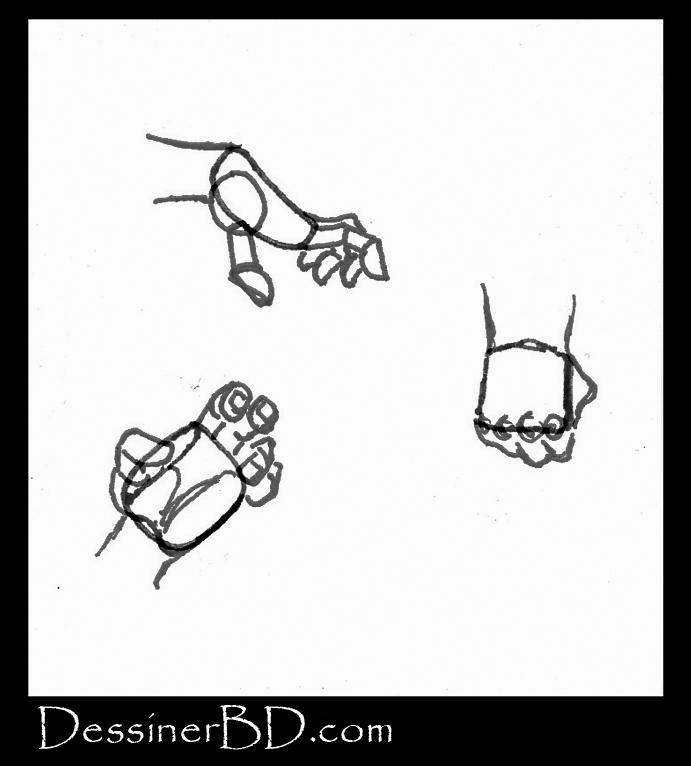 comment dessiner la structure des mains