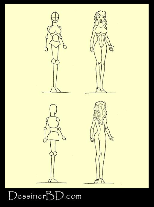 apprendre à dessiner anatomie femme elfe