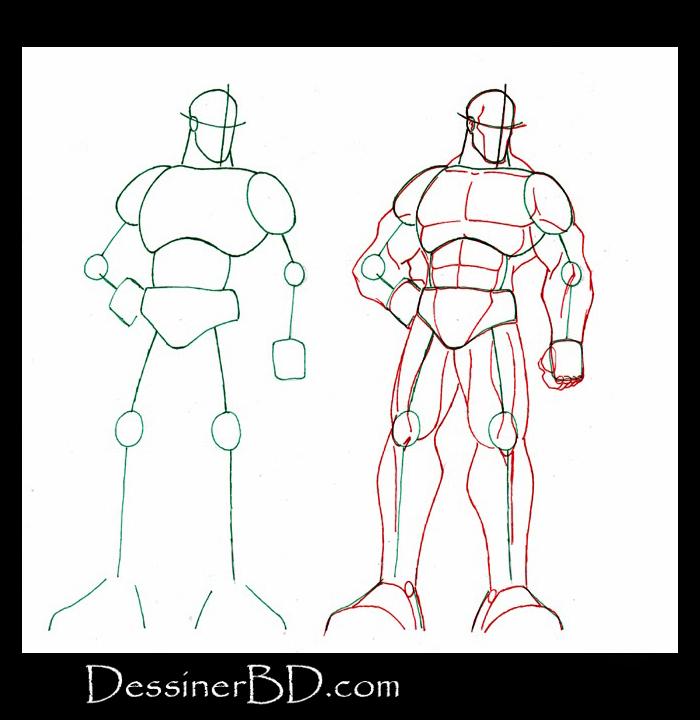 Dessiner muscles et anatomie homme
