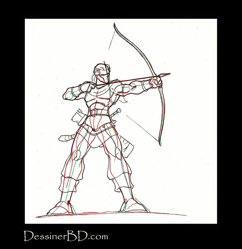 dessiner détails et costume archer