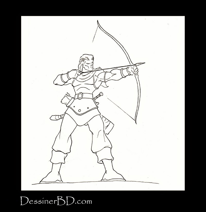 dessin fina;l archer rôdeur