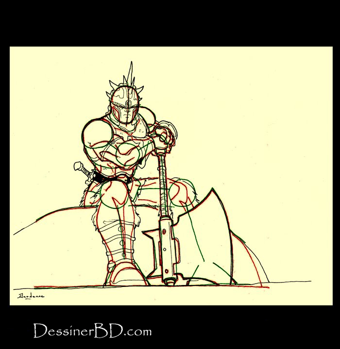 dessiner détails et armure barbare
