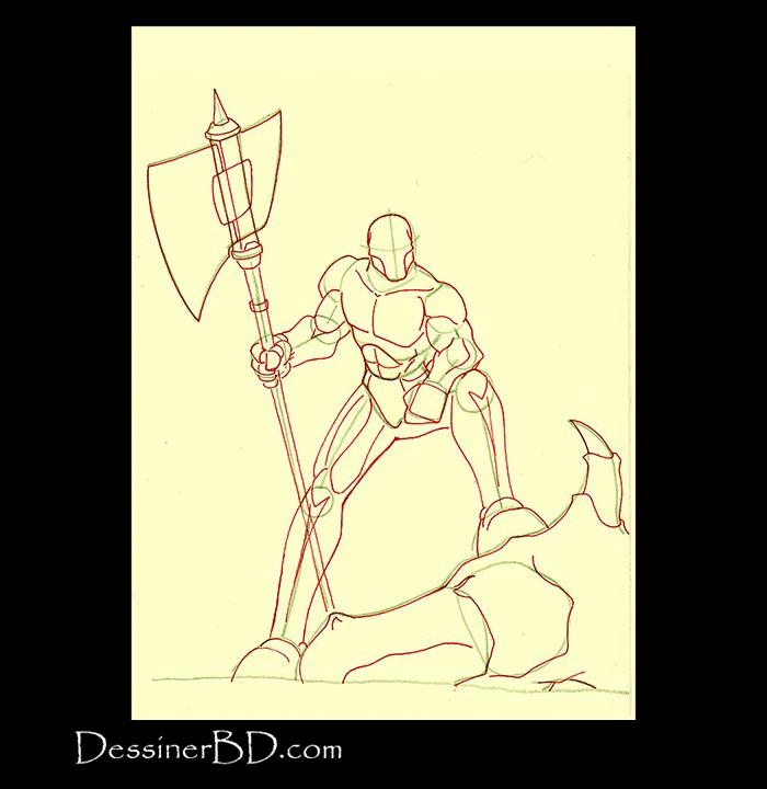 chasseur de dragons dessiner anatomie