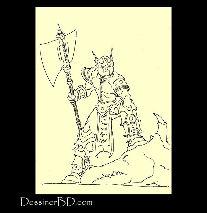 dessin final chasseur de dragons