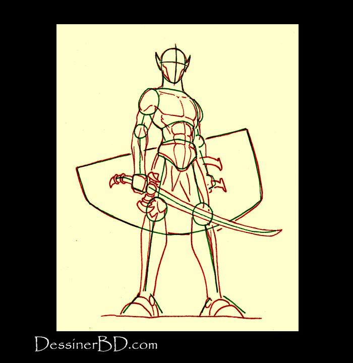 dessiner muscles anatomie elfe guerrier