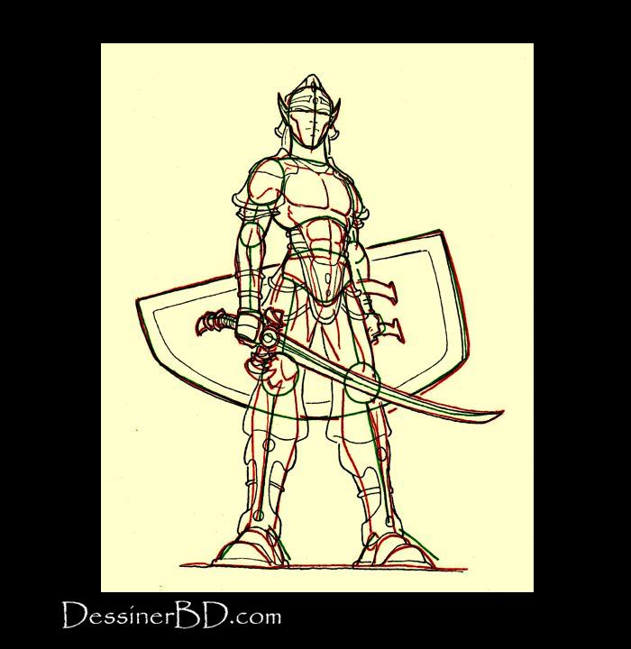 dessiner détails elfe guerrier