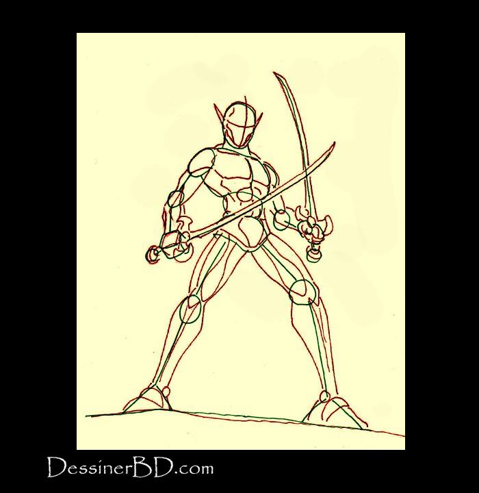 dessiner anatomie elfe rôdeur chantelame