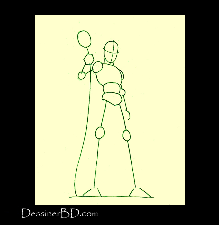 comment dessiner elfe sorcier charpente