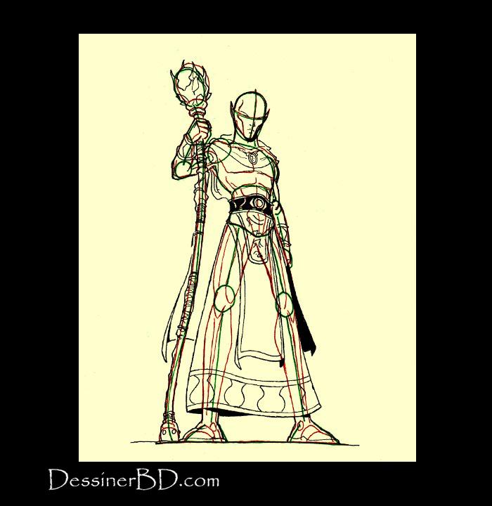 comment dessiner elfe sorcier robe et détails