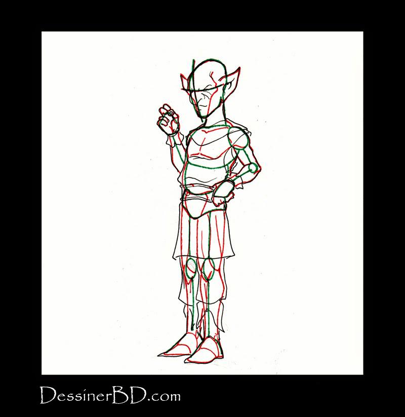 comment dessiner détails habits gnome