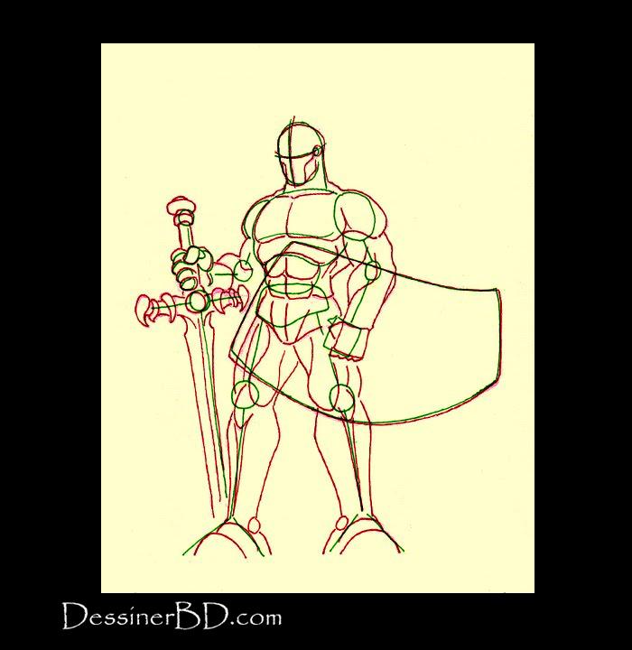 anatomie dessiner guerrier du chaos
