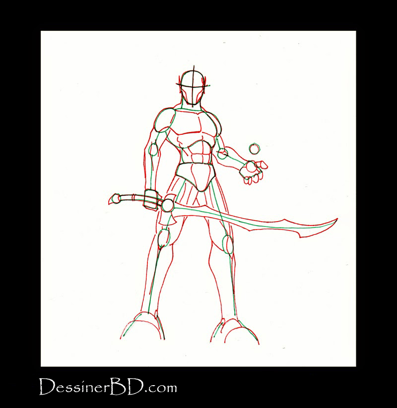anatomie dessiner guerrier mage elfe noir