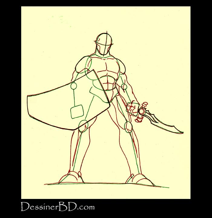 dessiner anatomie et muscles guerrier sparte