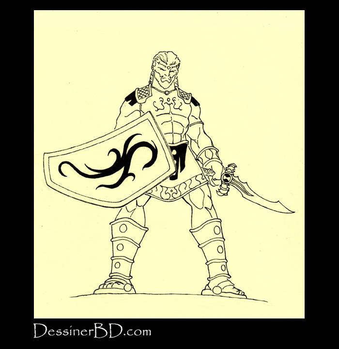 dessin final guerrier sparte