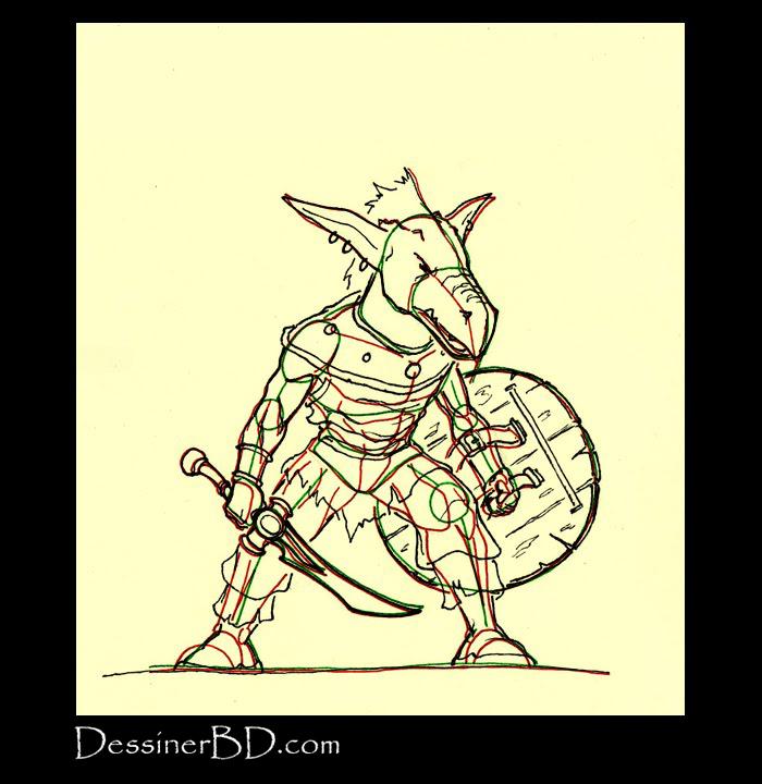 comment dessiner détails habits kobold