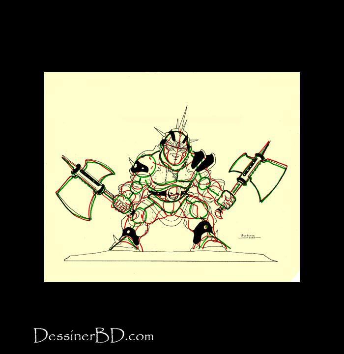 dessiner armure détails nain berserker