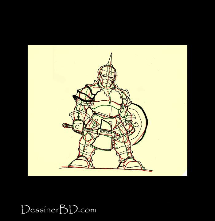 dessiner armure détails nain guerrier